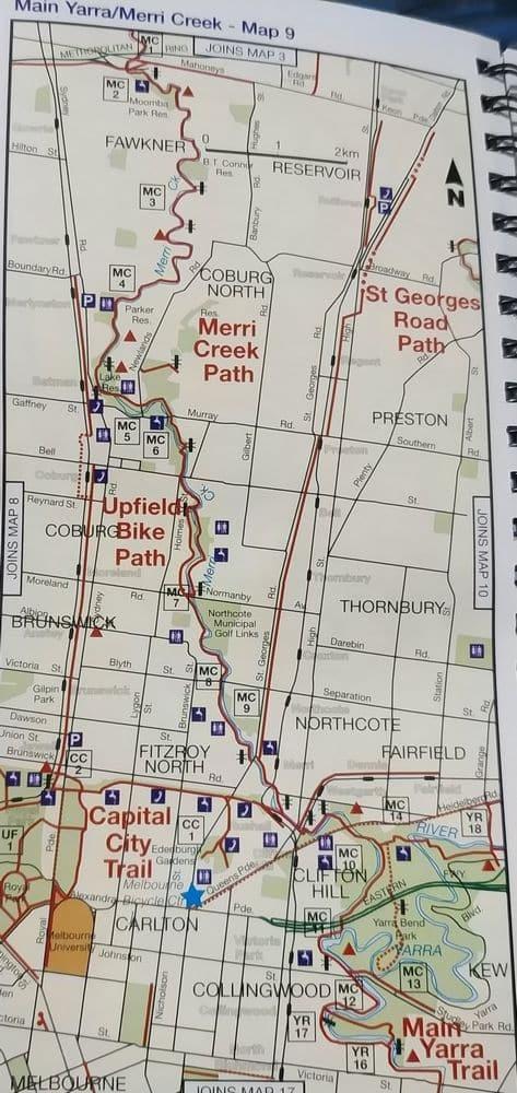 capital city trail melbourne map pdf