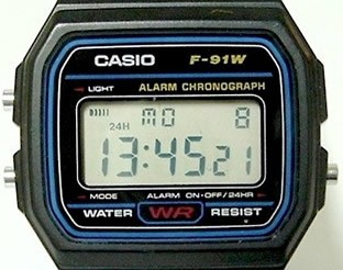 casio watch f 91w instructions