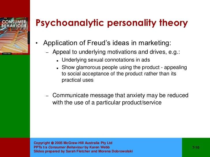 application of psychoanalytic theory