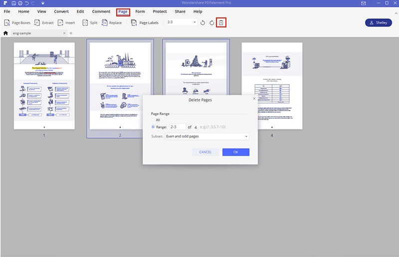 can you delete pages of a pdf in preview