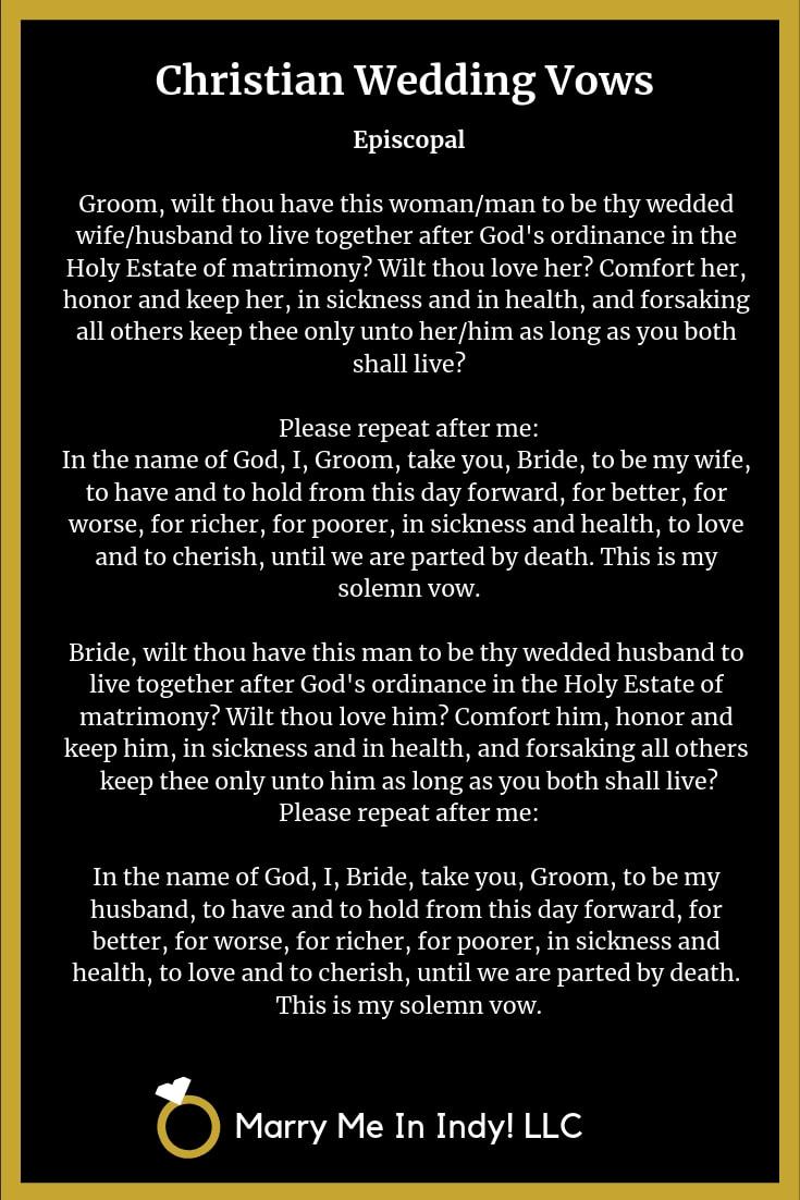 christian wedding ceremony script pdf