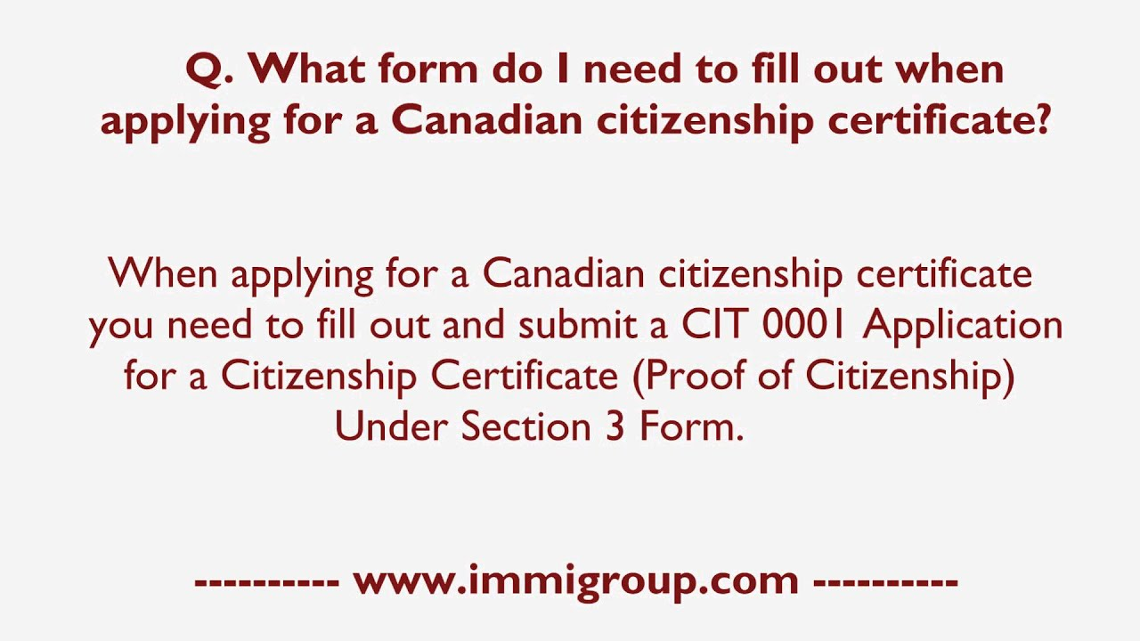 canadian citizenship application form