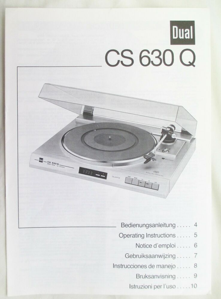 dual turntable service manual