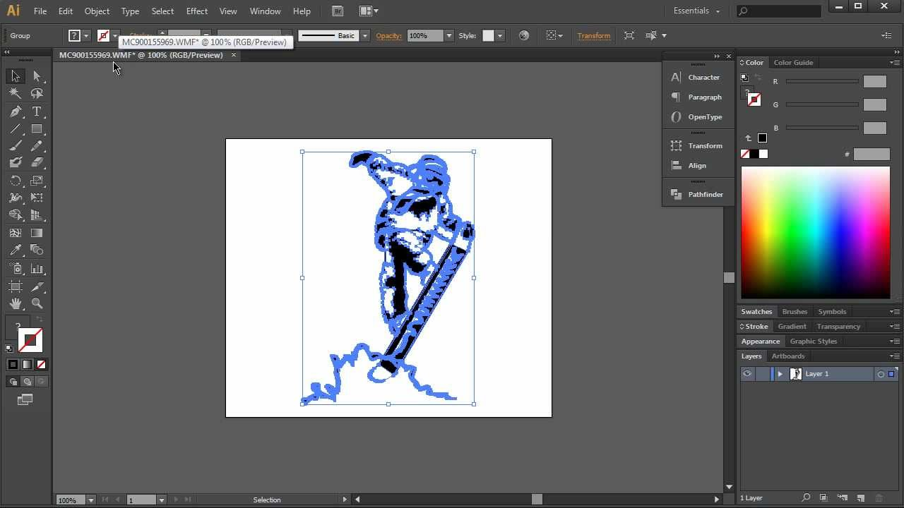 create an outline of a pdf image in illustrator