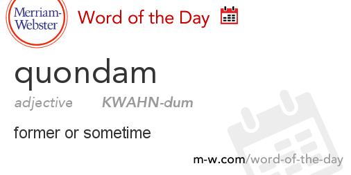 dictionary quondam