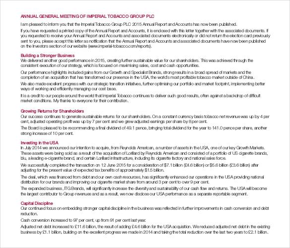 annual general meeting format pdf