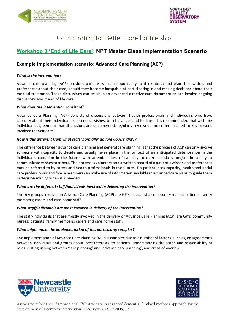 advance care planning documentation template