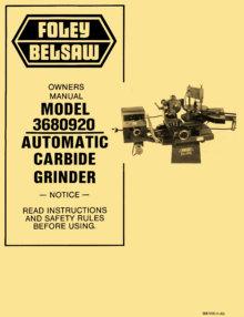 belsaw 1055 operating manual