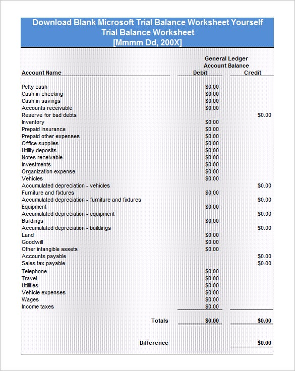 accounting worksheet example pdf