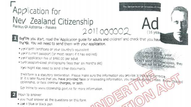 application for nz citizenship internal affairs