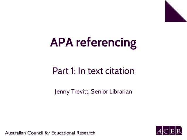 apa guide 6th edition referencing