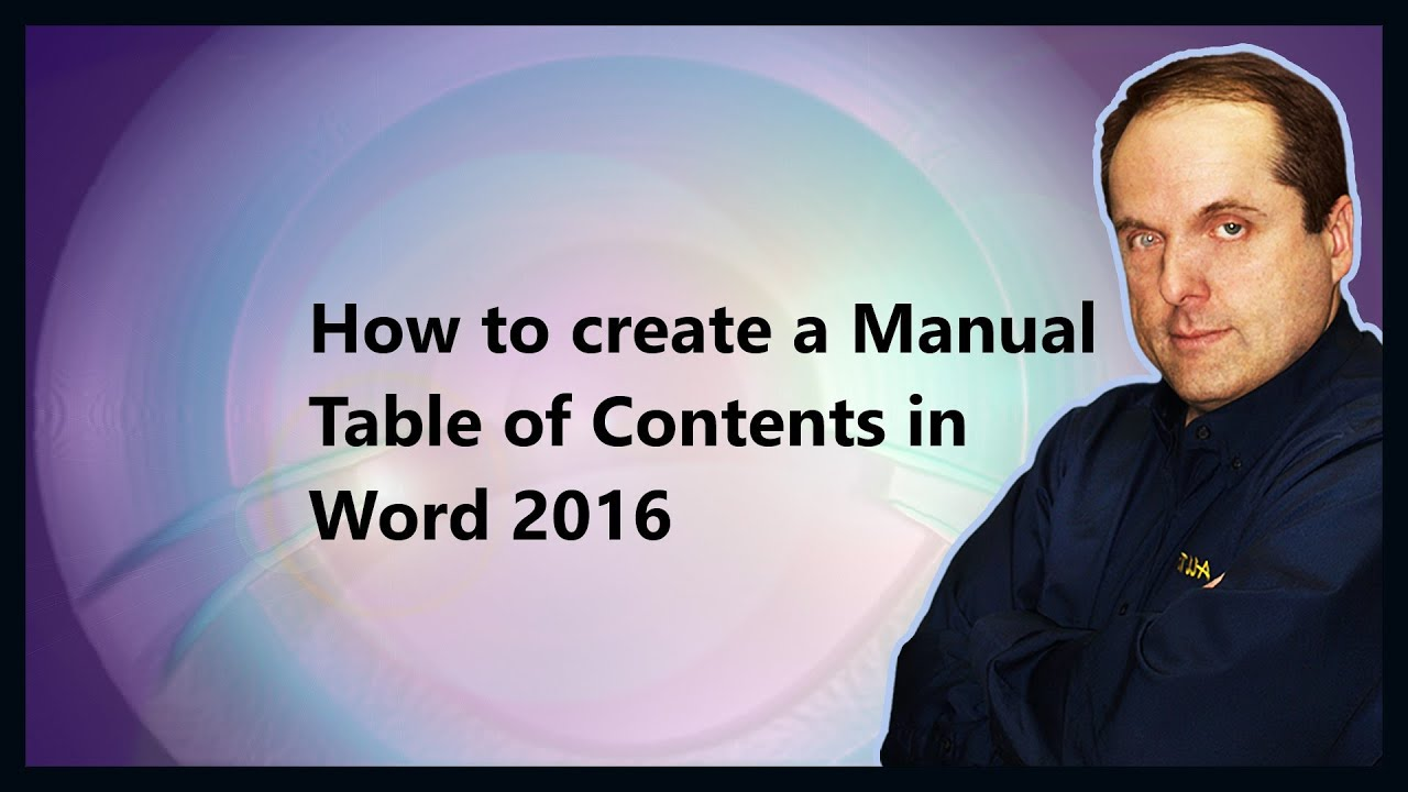 creating a manual in word