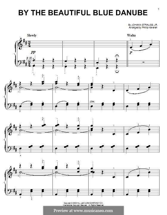 blue danube violin sheet music pdf
