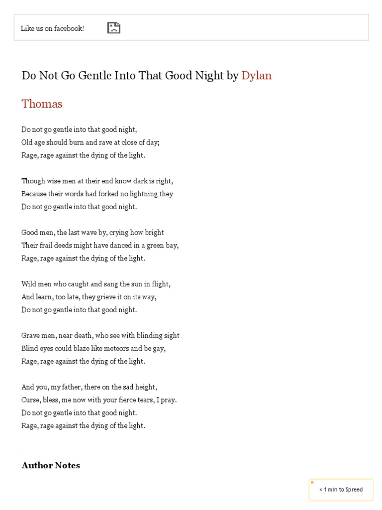 dylan thomas poems pdf