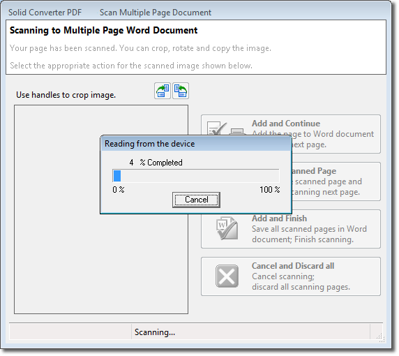 change scan pdf to word