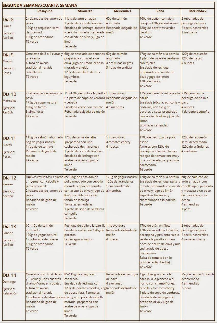 dieta cetogenica menu pdf
