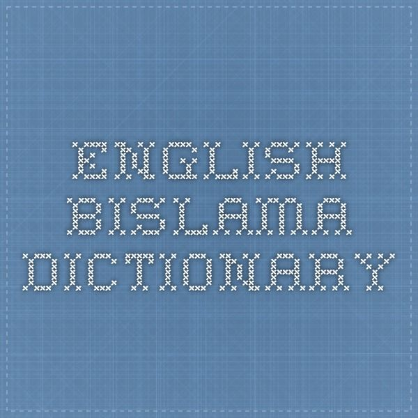 bislama dictionary