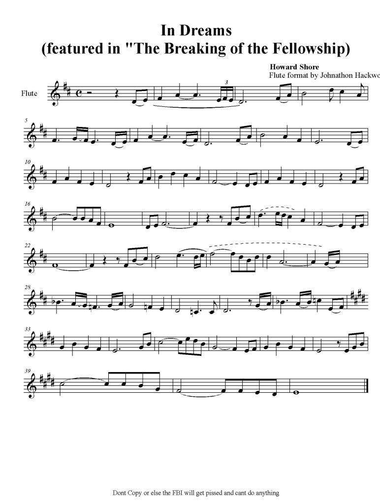 concerning hobbits flute sheet music pdf