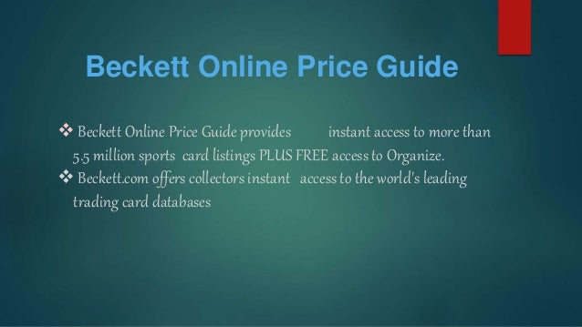 beckett grading price guide