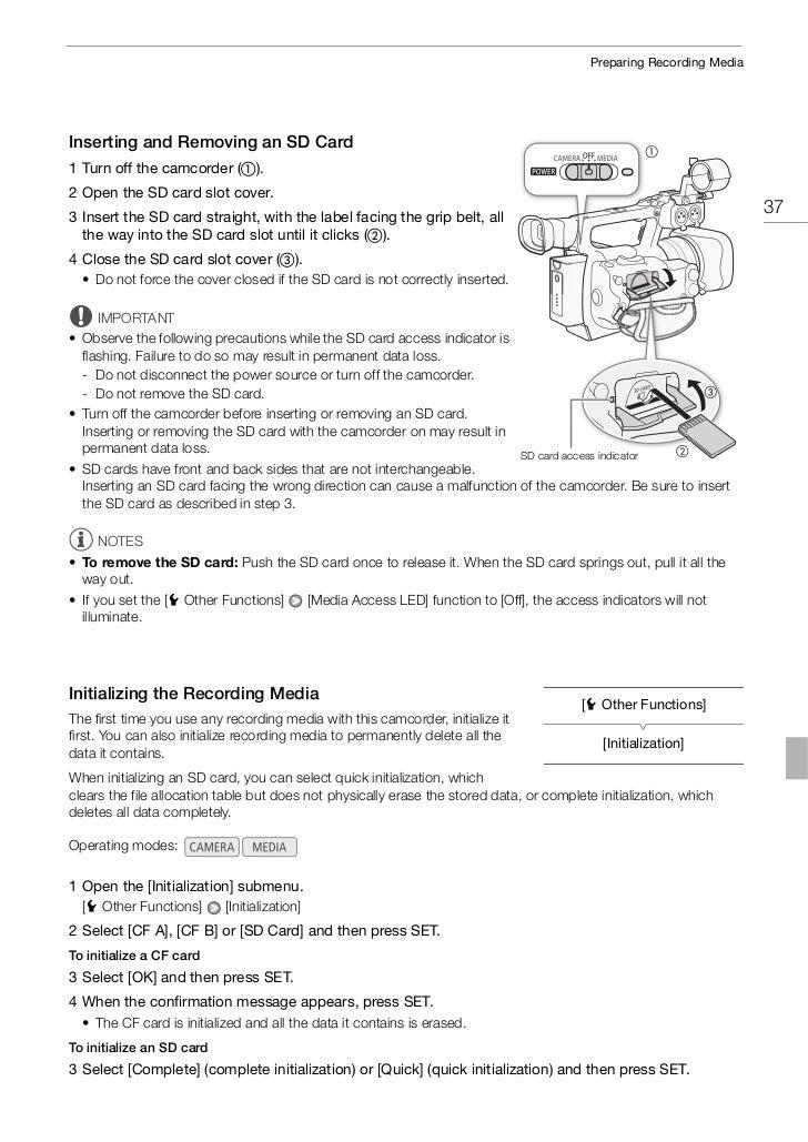 canon xf100 user manual