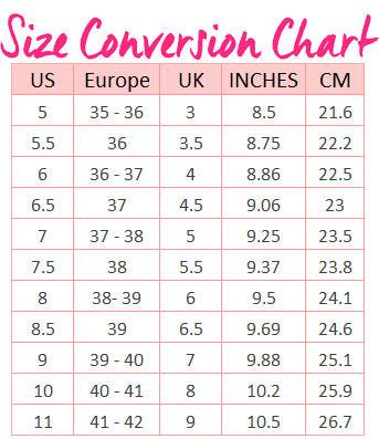 asos shoe size guide cm