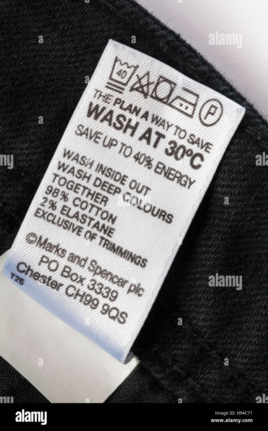 95 cotton 5 spandex fabric washing instructions