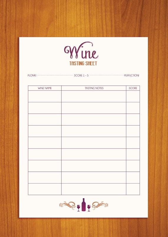 blind wine tasting sheet pdf