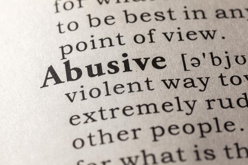 abusive dictionary definition