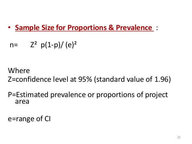 95 ci formula sample size