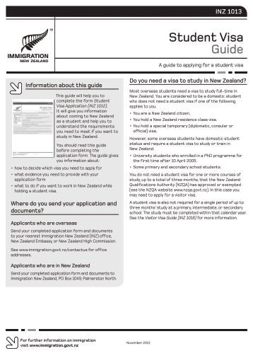 1013 student visa guide form