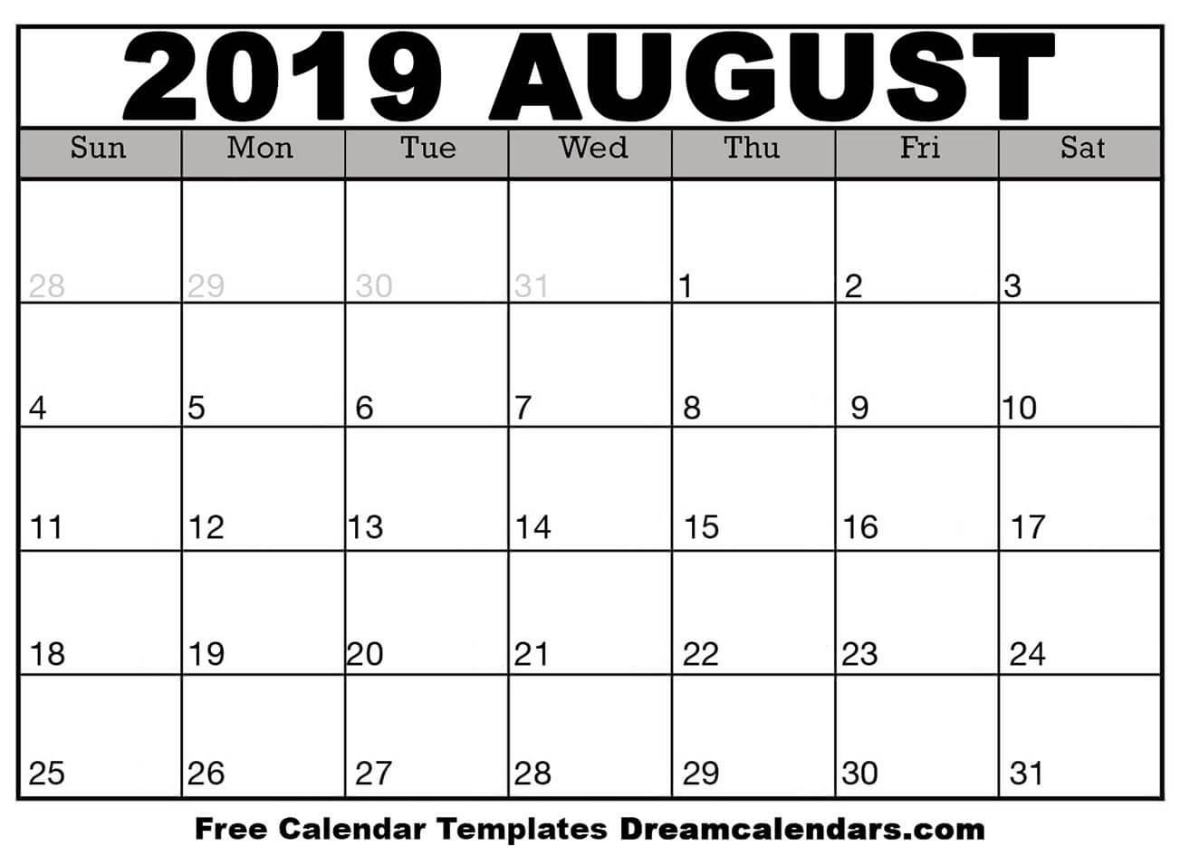2019 calendar pdf