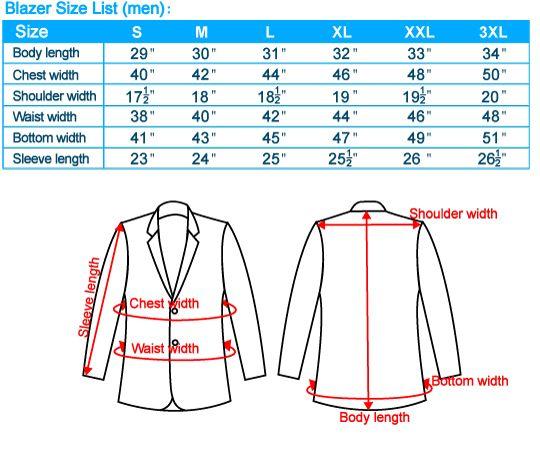 connor suit size guide