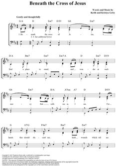 beneath the cross of jesus sheet music pdf