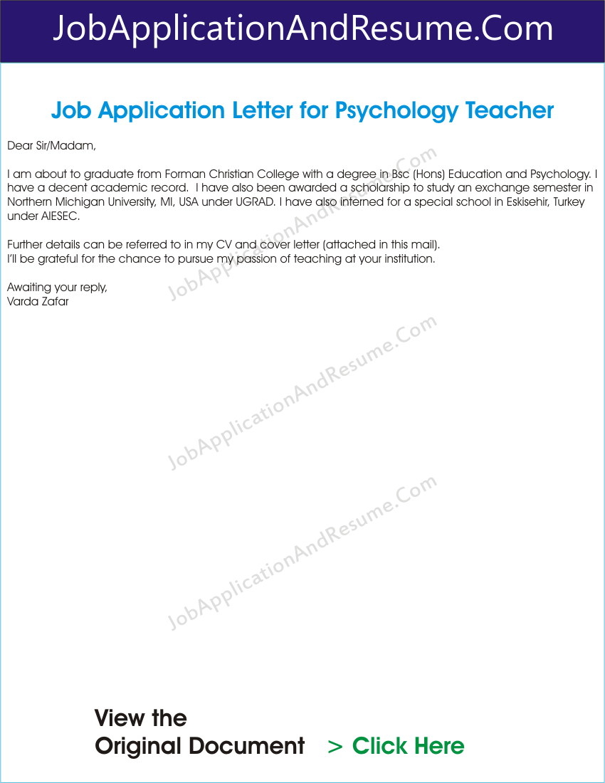 application of psychology