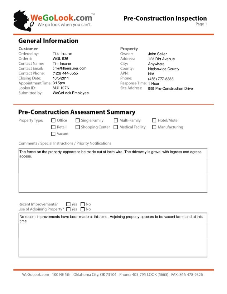 construction site visit report sample pdf