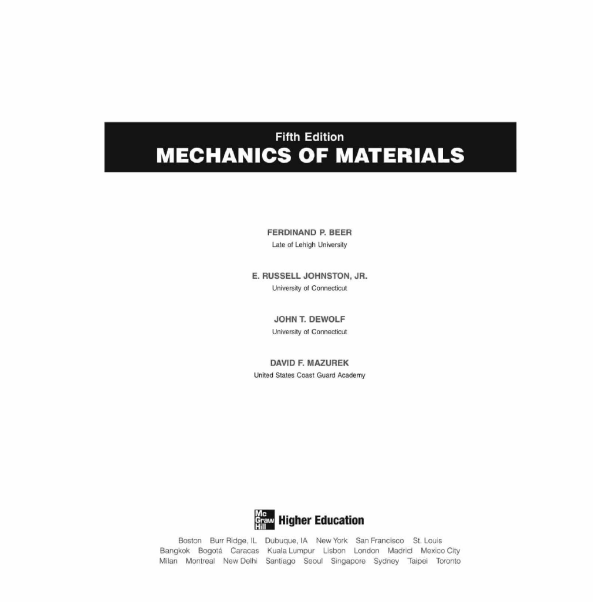 beer and johnston strength of materials pdf download