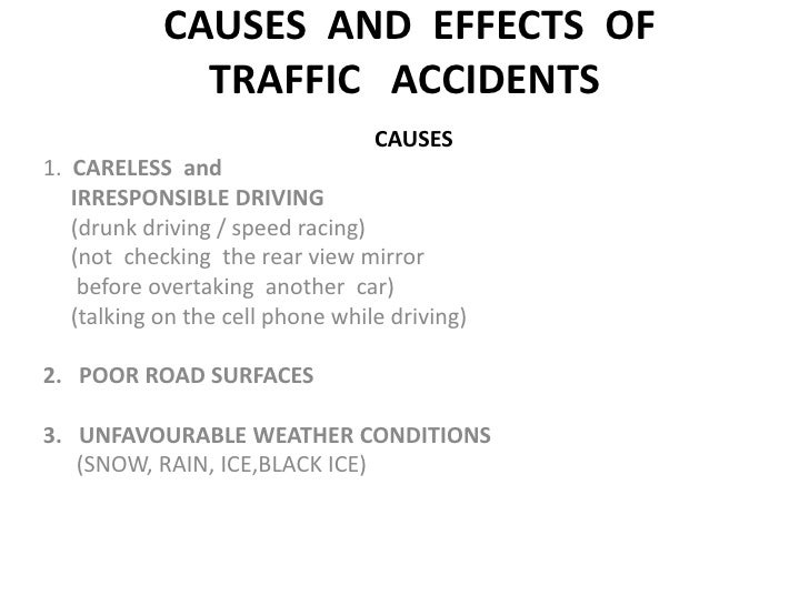 causes of road accident pdf