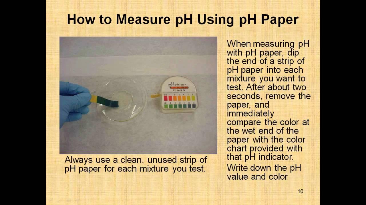 determination of ph of food sample