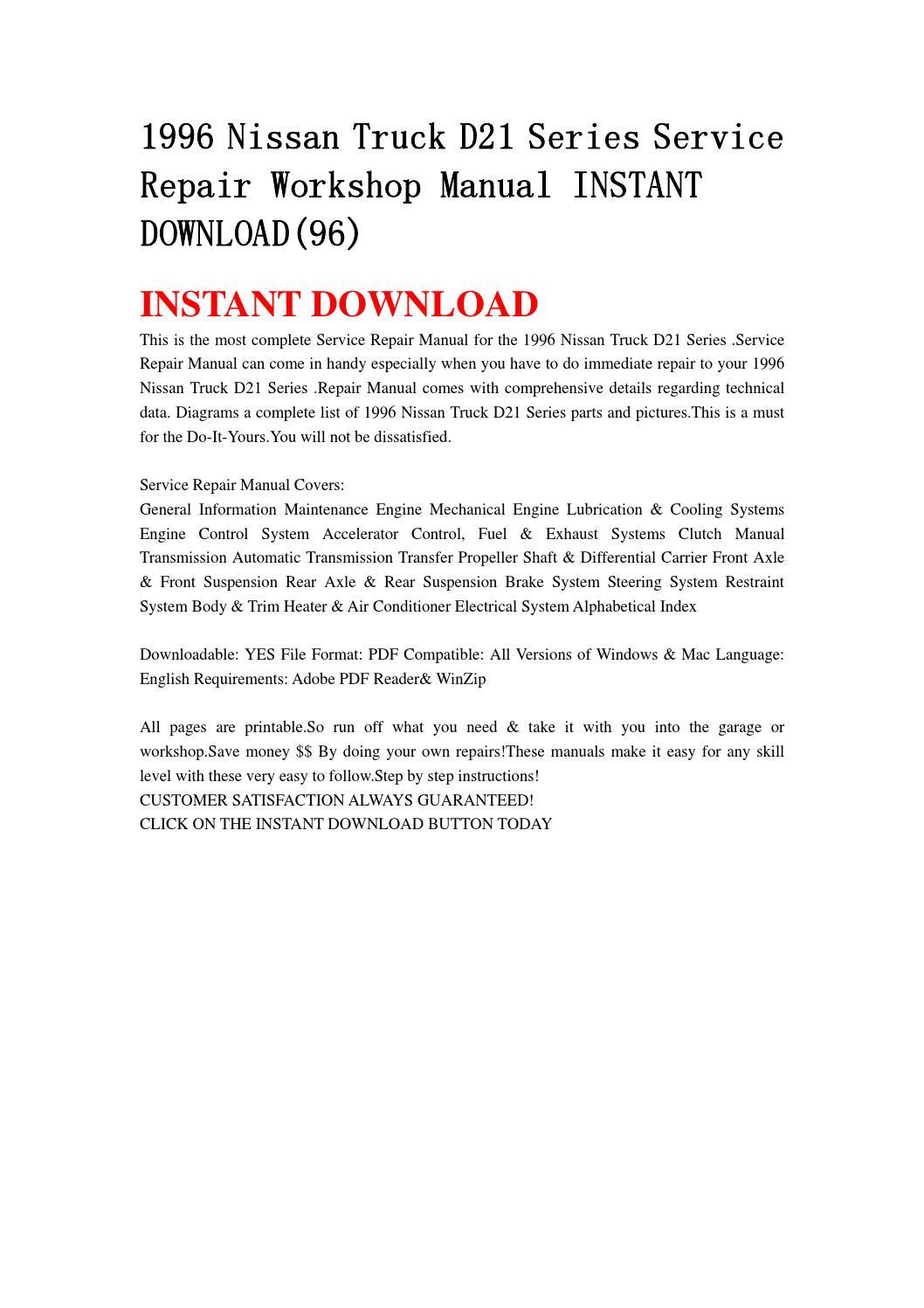 d21 workshop manual