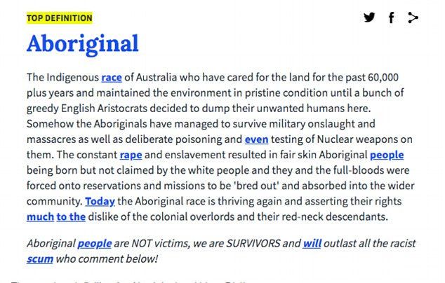 aboriginal dictionary