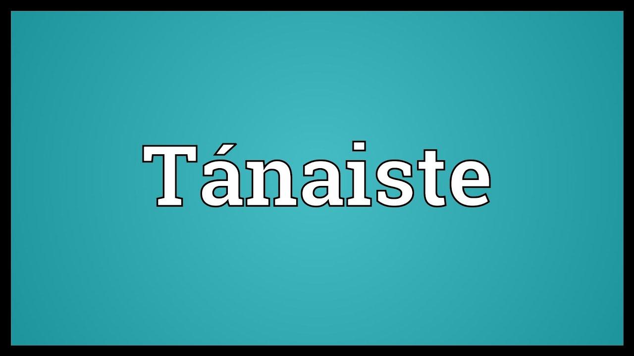 dictionary tanaiste