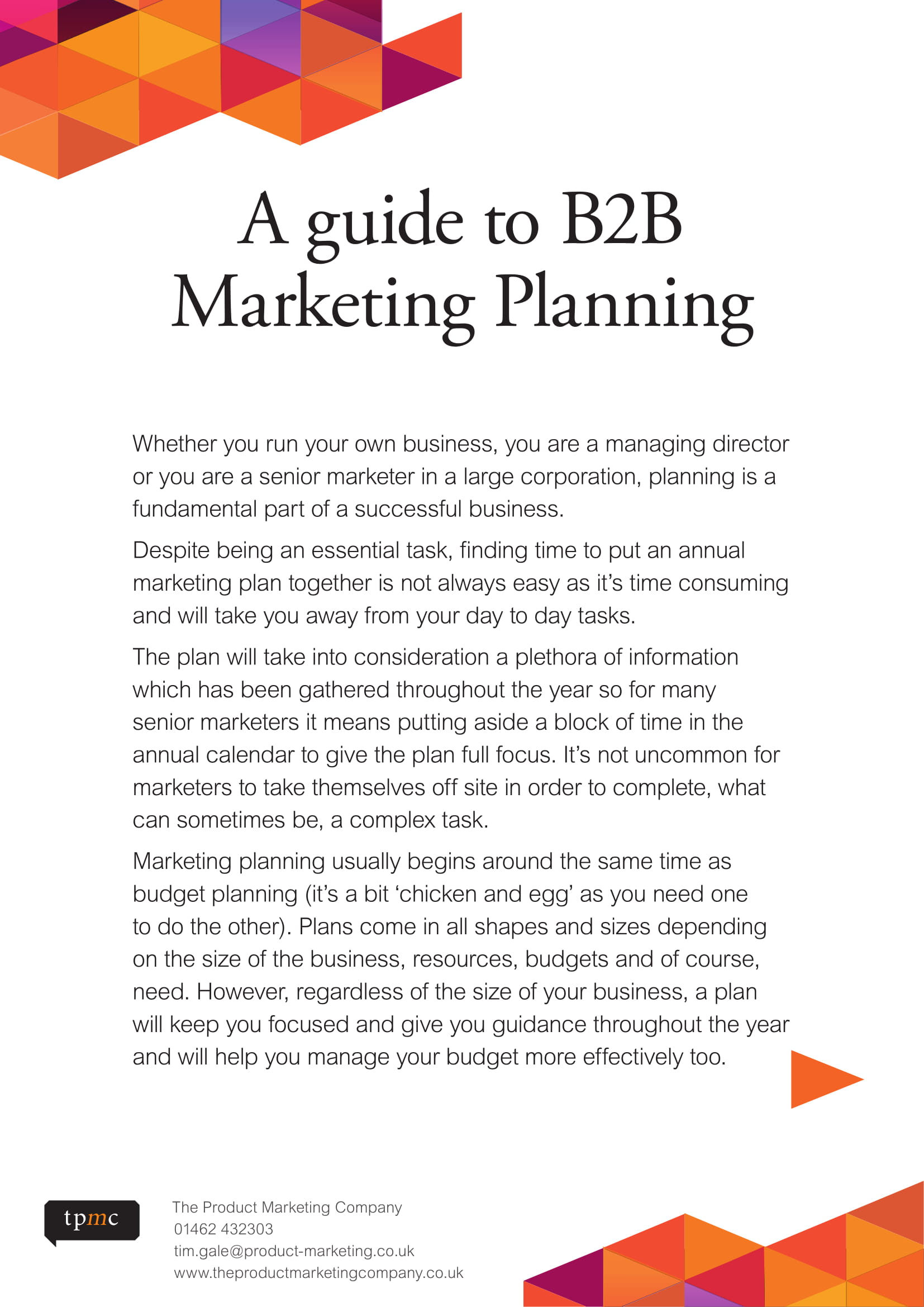 b2b marketing plan pdf