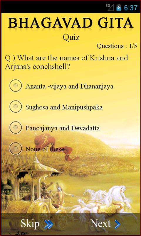 bhagavad gita summary pdf