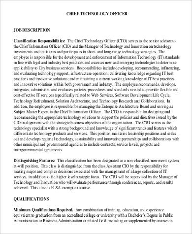 chief innovation officer job description pdf