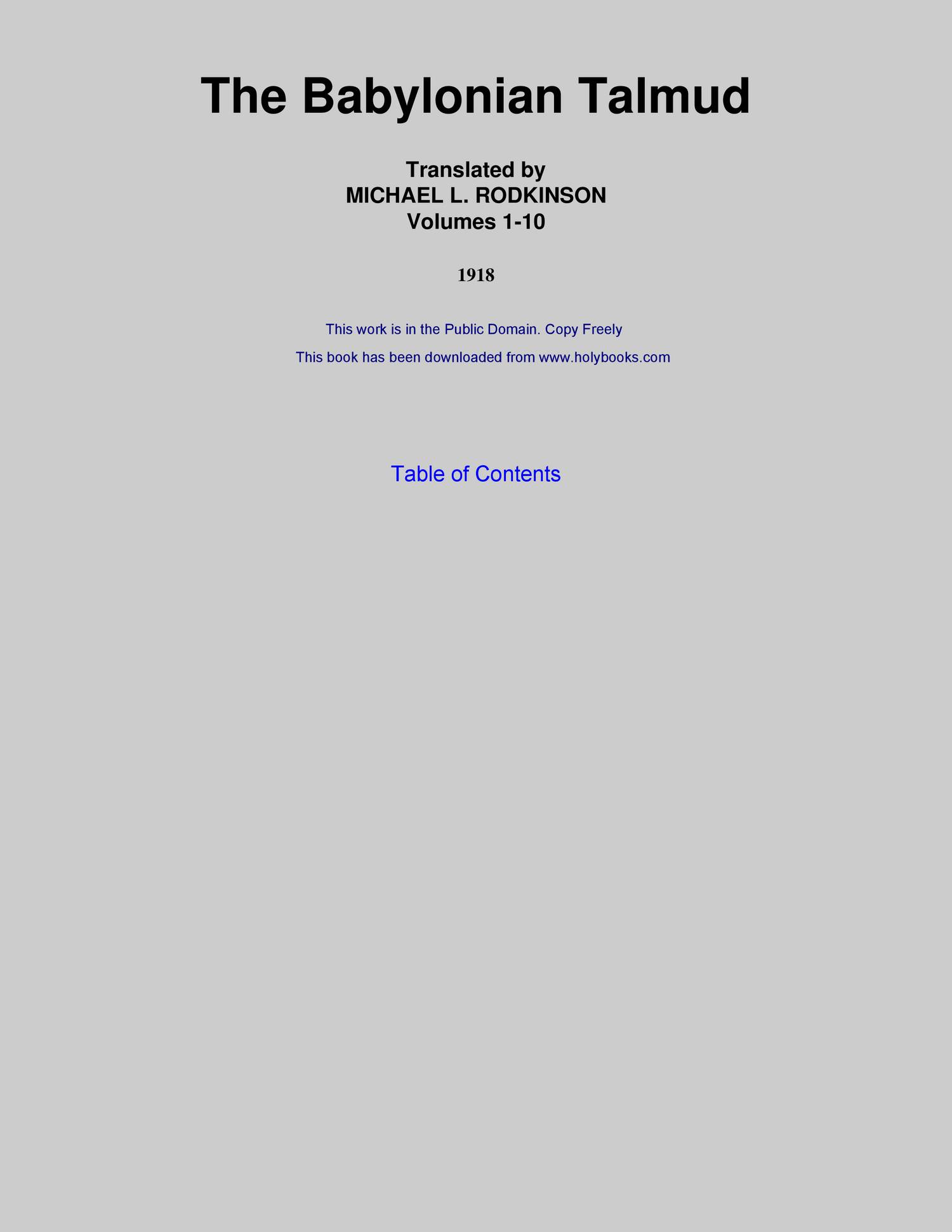 babylonian talmud pdf