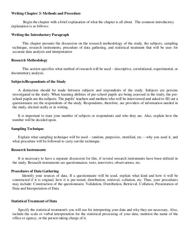 chapter 3 research methodology sample qualitative