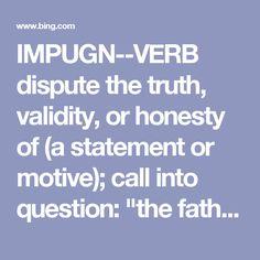 dictionary impugn