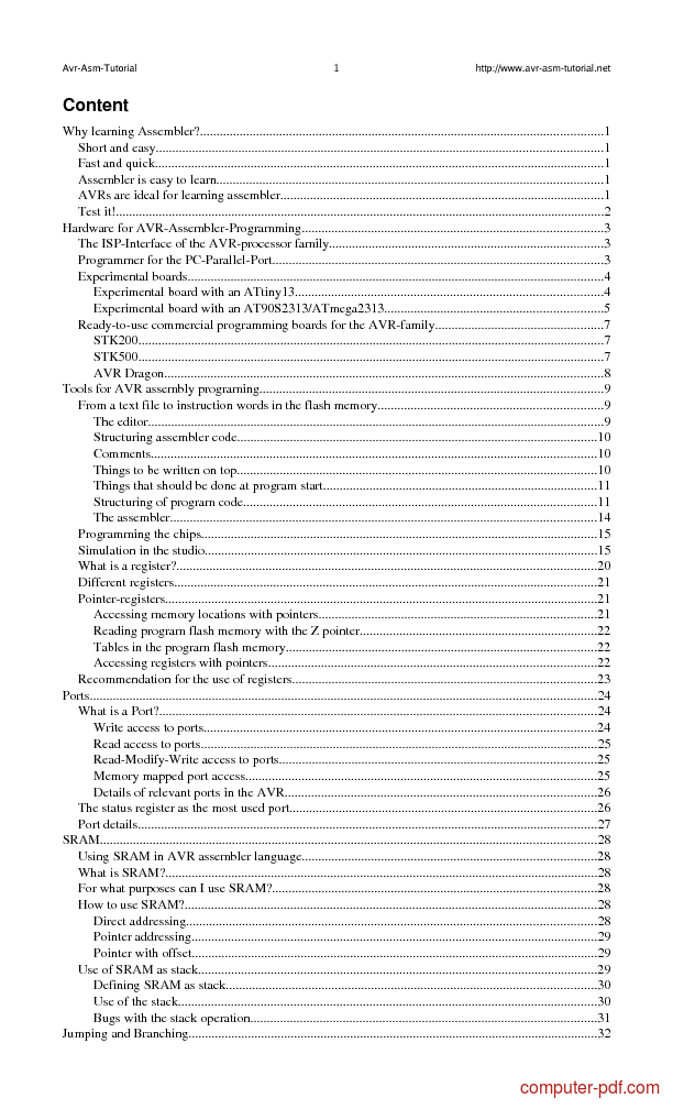 avr assembly instructions pdf