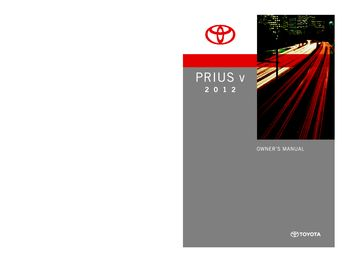 2012 prius owners manual pdf