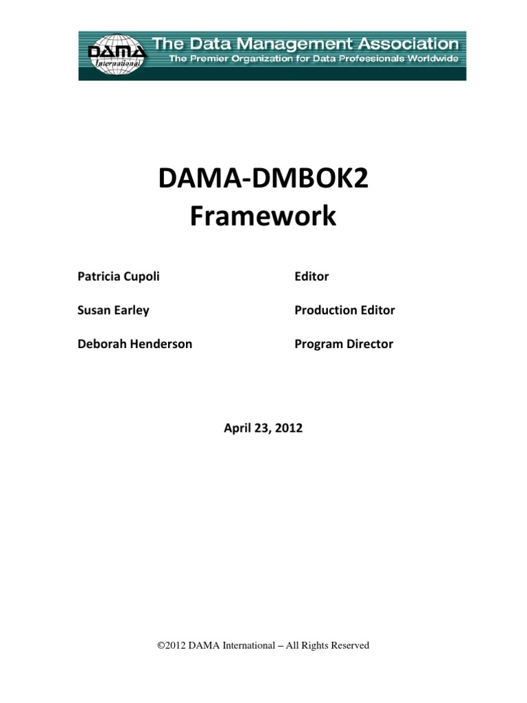 dama dmbok2 pdf download